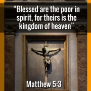 Blessed are the poor in spirit teach Jesus